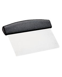 spatule/grattoir pÂte À pizza 11x15,2 cm argente inox (1 unitÉ)