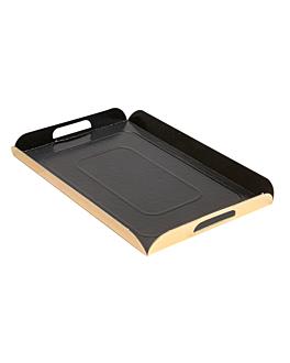plateaux avec anses 750 g/m2 19x28 cm noir/or carton (100 unitÉ)