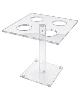 display per 4 coni piccoli 15x15x15 cm trasparente acrilico (1 unitÀ)