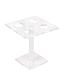 dispenser for 4 small cones 15x15x15 cm clear acrylic (1 unit)