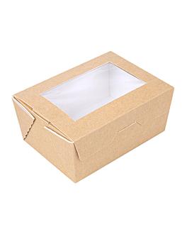 scatole con finestra 'thepack' 500 ml 220 g/m2 + opp 8,5x12x5,5 cm naturale cartone ondulato a nano-micro (400 unitÀ)