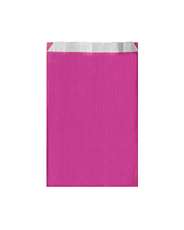 flat bags one-colour 60 gsm 19+8x35 cm fuchsia cellulose (250 unit)