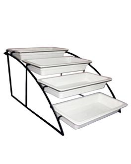 stand 4 levels gn pans 1/3 36 cm black iron (1 unit)
