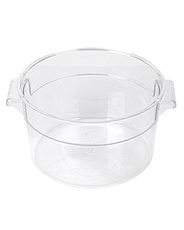 food container 2 l Ø 18,4x10,9 cm clear polycarbonate (1 unit)