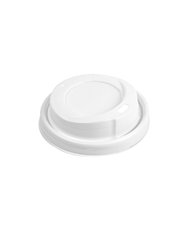 high dome lids for cups 240 ml  white ps (1000 unit)