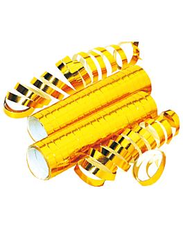 2x18 serpentinas 7mmx4m dorado papel (1 unid.)