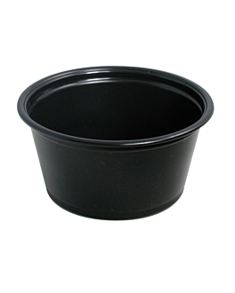small microwavable containers 60 ml Ø6,2x3,2 cm black pp (2500 unit)