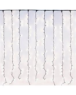rideau lumineaux 400 leds 2 m blanc (1 unitÉ)