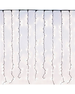 cortina luminosa 400 leds 2 m branco (1 unidade)