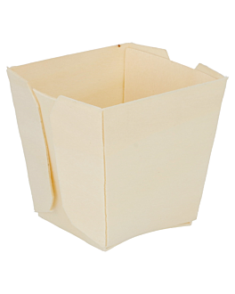 square containers 5,5x5,5x5,5 cm natural wood (500 unit)