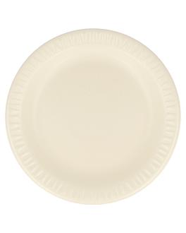 assiettes en foam laminÉes avec pe Ø 15 cm amande pse (1000 unitÉ)