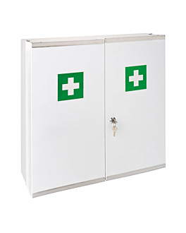 first aid cabinet 52,5x19,5x53 cm white steel (1 unit)