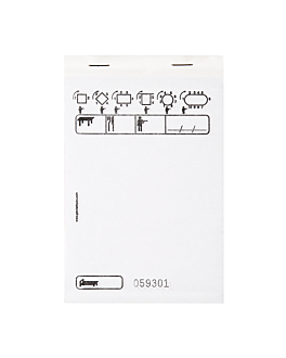 standard duplicate order pads 50x2 sheets 10x15 cm white self-copying (100 unit)
