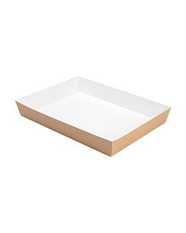 bandejas comida 400 g/m2 25,5x18x3,7 cm castanho cartÃo (200 unidade)