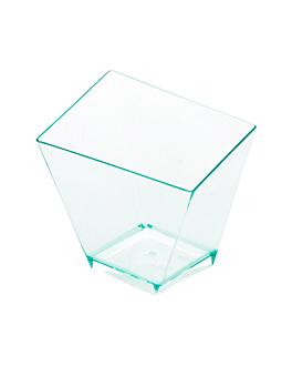 irregular cups 57 ml 5,6x5,6 cm sea green ps (576 unit)