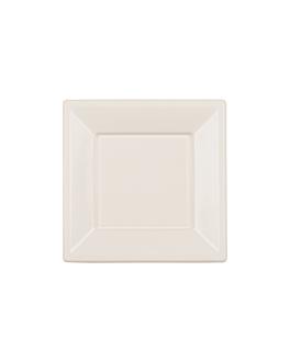 25 u. piatti quadrati 18x18x2 cm bianco ps (20 unitÀ)