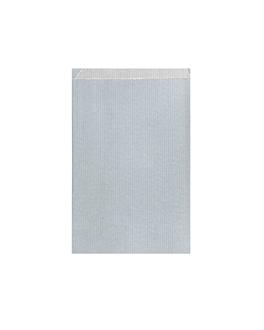 bolsas planas 60 g/m2 12+5x18 cm plateado kraft verjurado (250 unid.)