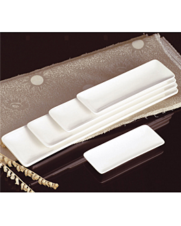 platos oblongos 20,5x9,5 cm blanco porcelana (6 unid.)