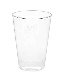 injected glasses 250 ml Ø 7,6x10,7 cm clear ps (1000 unit)