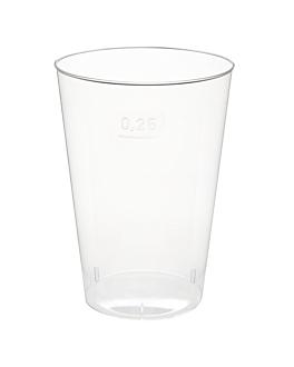 verres injectÉs 250 ml Ø 7,6x10,7 cm transparent ps (1000 unitÉ)