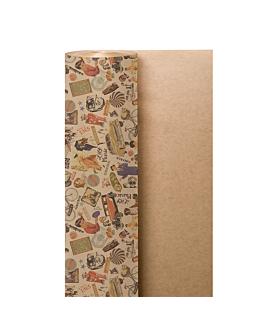 papel envoltorio 'vintage' 60 g/m2 0,7x100 m natural kraft verjurado (1 unid.)