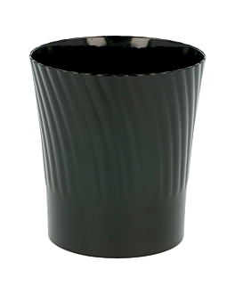 injected cups for appetisers 165 ml Ø 6,5x7,1 cm black ps (432 unit)
