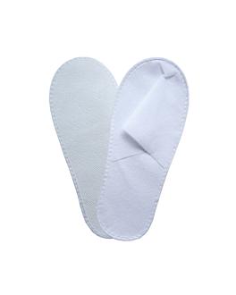 slippers 28x11 cm white spunbond (500 unit)