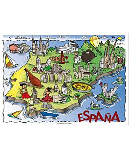 tovagliette offset 'espaÑa' 70 g/m2 31x43 cm quatricomia carta (2000 unitÀ)