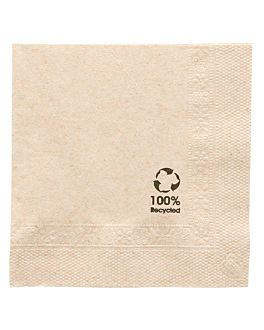 ecolabel napkins 2 ply 18 gsm 20x20 cm natural recycled tissu (4800 unit)