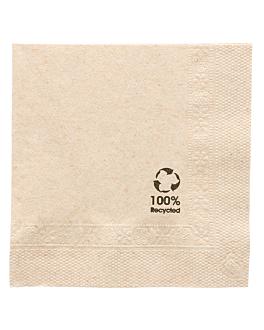 serviettes ecolabel 2 plis 18 g/m2 20x20 cm naturel ouate recyclÉe (4800 unitÉ)
