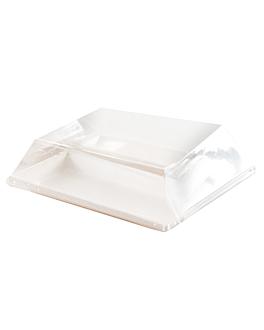 lids for item 215.80 'bionic' 18x18x2,5 cm clear pet (400 unit)