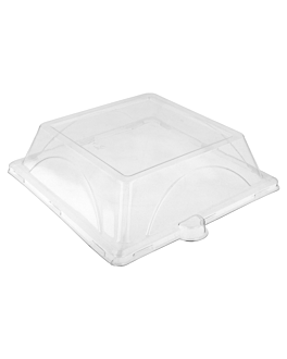 lids for item 215.92 'bionic' 20,7x20,7x4 cm clear pet (250 unit)