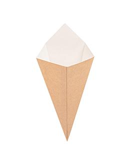 coni per fritti 'thepack' 100 g 220 g/m2 12,8x21,7 cm naturale cartone ondulato a nano-micro (1600 unitÀ)