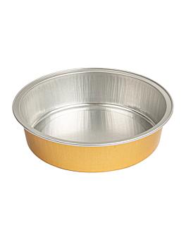 recipientes pastelerÍa 215 ml Ø11,8x3 cm plata/oro aluminio (100 unid.)