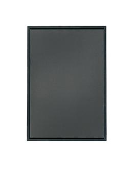 pizarra mural 65x115x2 cm negro madera (1 unid.)