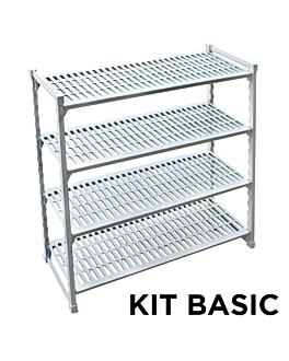 ventilated shelf windshelving 45,5x122x180 cm grey steel (1 unit)