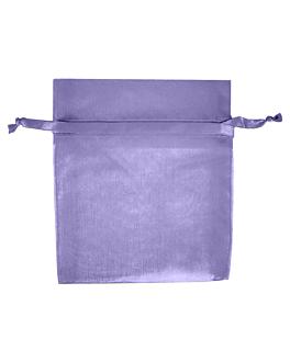 48 u. bolsas organdy con cierre 12,5x11 cm lavanda microfibra (1 unid.)