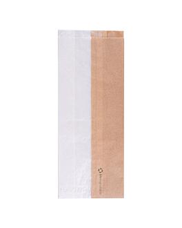 bolsas para sÁndwiches con ventana eco 'corner window' 40 g/m2 12+6x30 cm natural kraft (250 unid.)