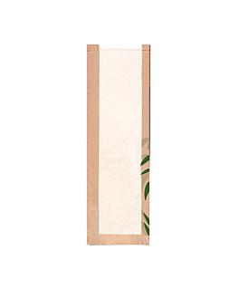 bolsas pan con ventana eco 'feel green' 32 g/m2 14+4x60 cm natural kraft (250 unid.)