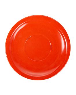 coffee saucers Ø 13,8 cm red melamine (12 unit)
