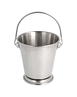 mini ice buckets Ø 9x9 cm silver stainless steel (12 unit)