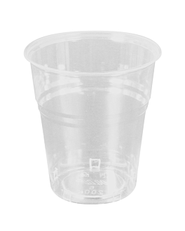 gobelets compostables 200 ml Ø 7,85x8 cm transparent pla (1500 unitÉ)