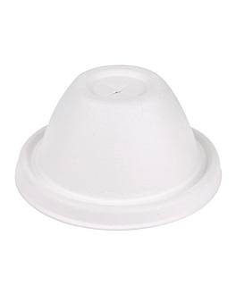 couvercles hauts gobelets Ø9 cm 'bionic' 9x4,5 cm blanc bagasse (1000 unitÉ)