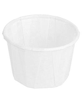 terrina carta plissettata 30 ml Ø4,2x3 cm bianco pergamana antigrassi (250 unitÀ)