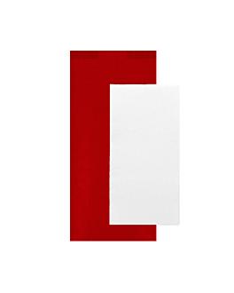 serviettes blanches emb. 'd.point' 40x32 cm 'just in time closed' 40 + 10pe g/m2 11x25 cm rouge kraft vergÉ (300 unitÉ)