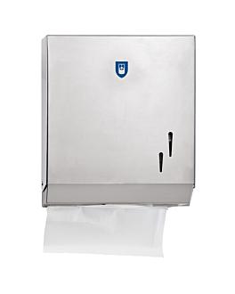 distributeur pour essuie-mains 26,5x12x30,5 cm argente acier (1 unitÉ)