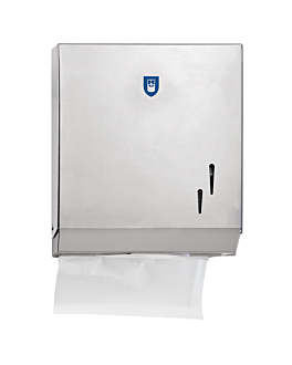 hand towel dispenser 26,5x12x30,5 cm silver steel (1 unit)