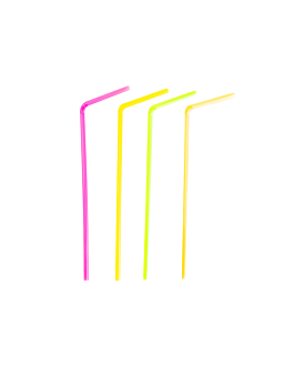 fluorescent flexible straws Ø0,50x23 cm assorted pp (9000 unit)