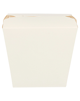 oriental food containers 330 + 18pe gsm 9x7,5x11 cm white cardboard (50 unit)