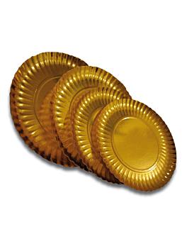 pratos 800 + 17 pe g/m2 Ø 30 cm dourado cartÃo (100 unidade)
